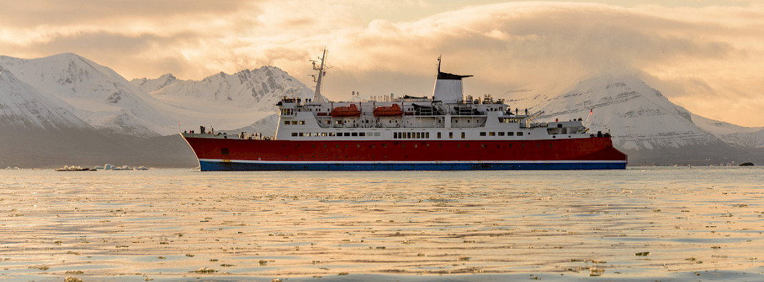 Ship in the Arctic. Photo: iStock / Alexey_Seafarer